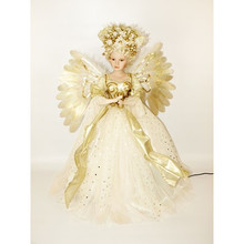 24in Fiber Optic Ivory Angel with Music & Motion