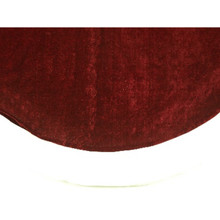 48in Burgundy Velvet Tree Skirt with White Trim