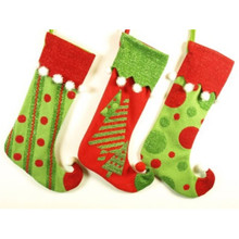 21in Red & Green Stocking, 3 Assorted