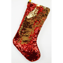 20in Red & Gold Color Changing Sequin Stocking