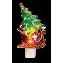 Sleigh with Christmas Tree LED Night Light #164085RI