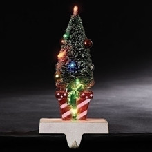 Christmas Tree & Gifts LED Stocking Holder #130341RI