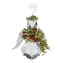 Kissing Krystal Small Angel Ornament #KK13