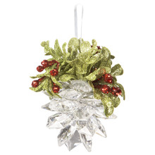 Kissing Krystal Mistletoe Pinecone in Clear #KK342