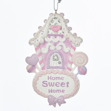 "Kurt Adler 4in Sugar Plum ""Home Sweet Home"" Ornament #C7915"