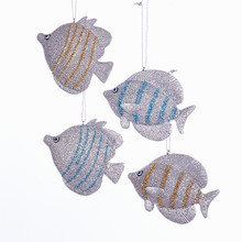 Kurt Adler Tropical Fish Ornament, 4 Assorted #C7981