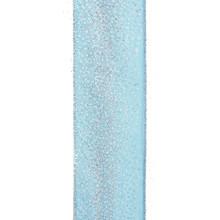 Kurt Adler 10yd Woven Glittered Aqua Ribbon #T2234