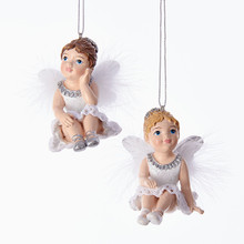 Kurt Adler Little Angel Ornament, 2 Assorted #C6769