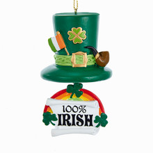 Kurt Adler Irish Hat & Rainbow Ornament #J8430