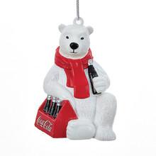 Kurt Adler Coca Cola Polar Bear Ornament #CC1163