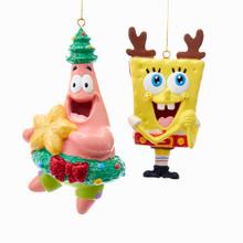 Kurt Adler Christmas Spongebob & Patrick Ornament, 2 Assorted #SB1171