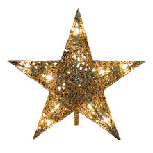 Kurt Adler UL 10L Gold Wire Star Treetop #UL0131GO