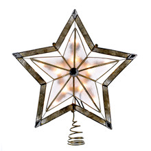 Kurt Adler UL 10L 5-Point Star Capiz Treetop #UL3047