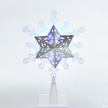 Kurt Adler UL LED Rotating Multi Color Snowflake Treetop #JEL0306