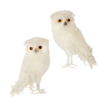 RAZ Large Iced Owl Figurine, Set of 2 #3553354