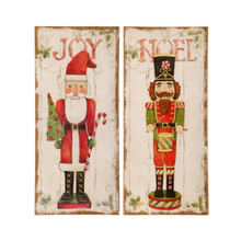 RAZ Burlap Joy & Noel Wall Decoration, 2 Assorted #3721357