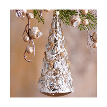 RAZ Silver & Gold Glass Tree Ornament #3723026