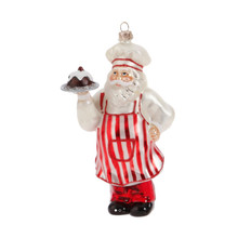 RAZ Glass Santa Chef Ornament #3752913