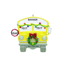 Rudolph & Me School Bus Personalized Ornament #48