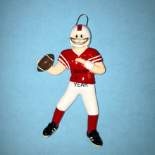 Rudolph & Me Football Boy Personalized Ornament #755