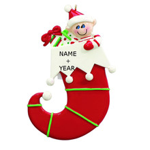 Rudolph & Me Single Elf Personalized Ornament #915