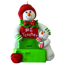 Rudolph & Me Snow Teacher Personalized Ornament #1605