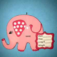 Rudolph & Me Baby Girl Elephant Personalized Ornament #986G