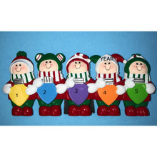 Rudolph & Me Personalized Christmas Lights Family of 5 #TT400-5