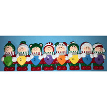 Rudolph & Me Personalized Christmas Lights Family of 8 #TT400-8