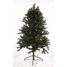 4.5ft Pre-Lit 'Real Feel' Colorado Spruce Tree in Multi
