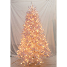 7.5ft Pre-Lit Glenbrook White Fir Tree in Clear