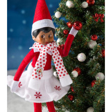 The Elf on the Shelf Claus Couture Snowflake Skirt & Scarf #CCSNOWSKSC