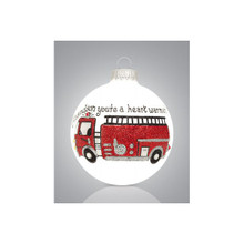 Heart Gifts by Teresa Grandson Fire Engine Ornament #2209