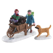 Lemax Village Collection Gathering Kindling, Set Of 2 #82596