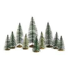 Lemax Village Collection Needle Pine Trees, Set Of 10 #84358