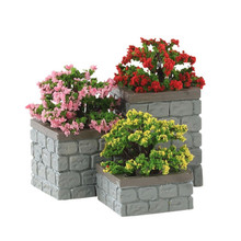 Lemax Village Collection Flower Bed Boxes, Set Of 3 #84380