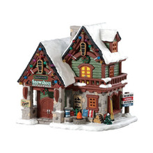 Lemax Village Collection Backwoods Snowshoe Rental Shop #85328