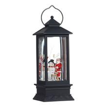 RAZ Santa & Snowman Lighted Water Lantern #3700778