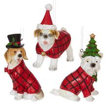 RAZ Dog in Christmas Sweater Ornament #3801615