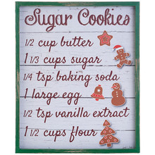 RAZ Sugar Cookie Recipe Wall Art #3815994
