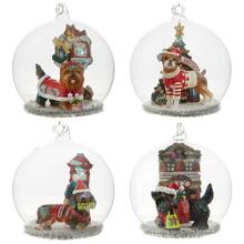 RAZ Dog Dome Ornament #3820076
