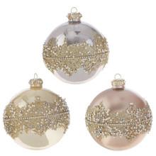 RAZ Ornate Beaded Ball Ornament #3822992