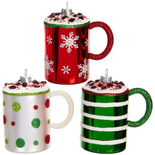 RAZ Christmas Mug Ornament #3852916