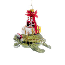 Kurt Adler Glass Turtle and Gifts Ornament #T0186