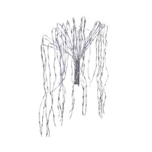 880L LED Cascading Light Set - Cool White, Silver Wire