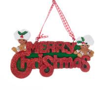 Kurt Adler Gingerbread Merry Christmas Ornament #H5522