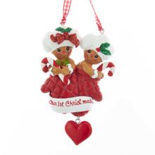 Kurt Adler Gingerbread Our First Christmas Ornament #H5529