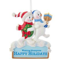 Kurt Adler Hanukkah Snowmen Ornament #A1843