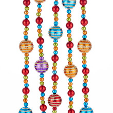 Kurt Adler Multi Color Shiny Ball Garland #J8173