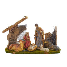 Kurt Adler 6 Piece Holy Family Nativity Stable #N0283